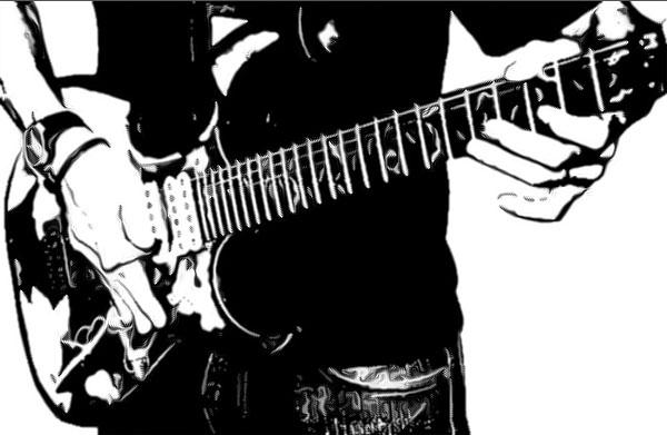 ギターを持った男性その6