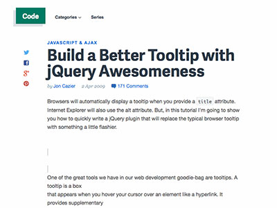 8.Build a Better Tooltip with jQuery Awesomeness