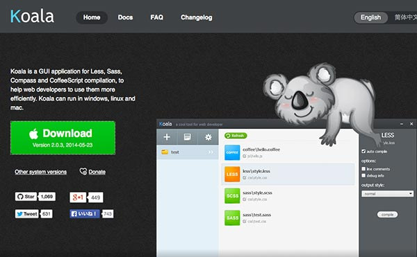 Koalaの公式ホームページキャプチャー1