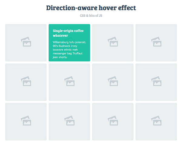 Direction-aware hover effect