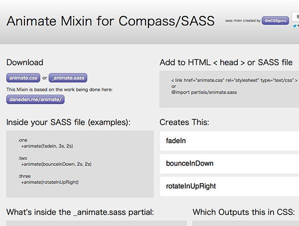 Animate Mixin for Compass/SASS