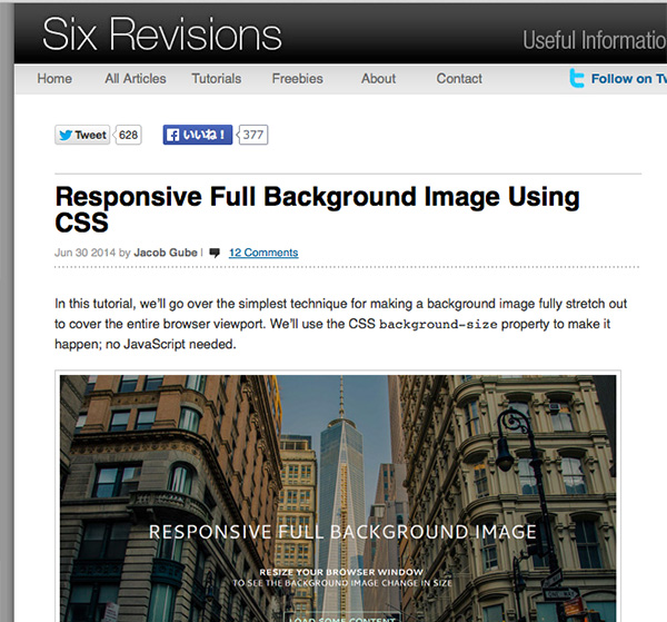 Responsive Full Background Image Using CSS