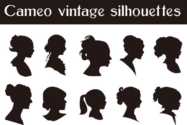 Cameo vintage silhouettes