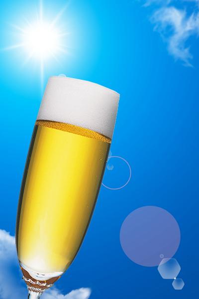 青空・ビール合成
