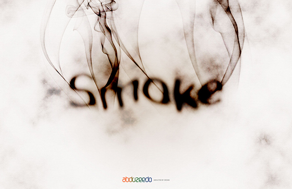 Smoke Type in Photoshop in 10 Steps