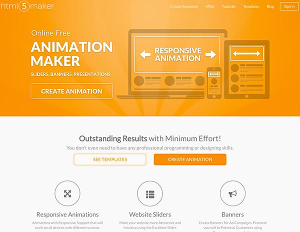 html5アニメーションを作れる html5 maker