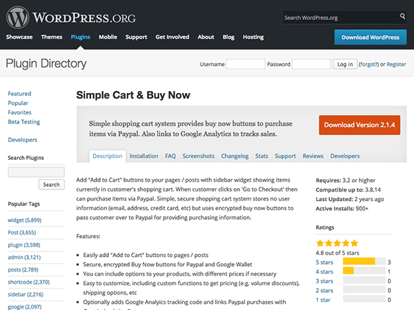 Simple Cart & Buy Now