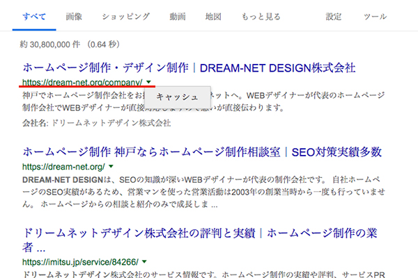 Googleキャッシュの見かた