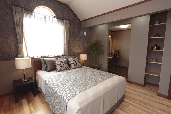 寝室の撮影